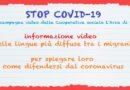 Coronavirus: come difendersi, video in lingua per i migranti